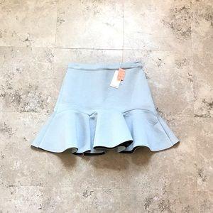 Neoprene fit and flare skirt